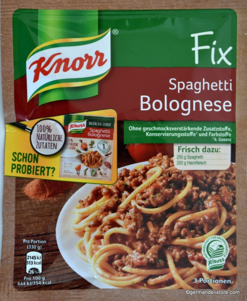 Knorr Fix for Spaghetti Bolognese