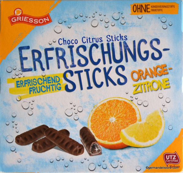 Griesson Refreshment Sticks Orange Lemon