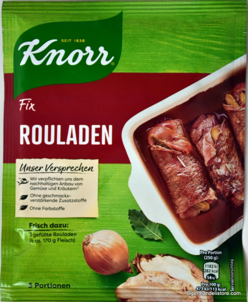 Knorr Fix for Beef Roulades