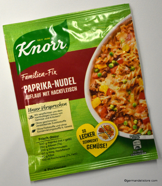 Knorr Family Fix for Paprika Noodle Casserole with Minced Meat