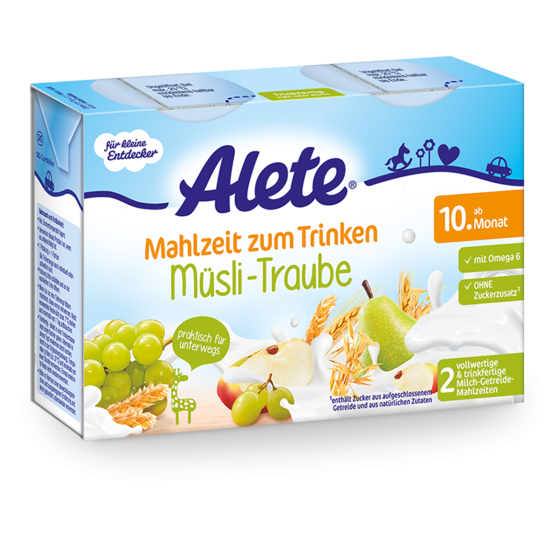 Alete Meal to Drink Muesli Grapes