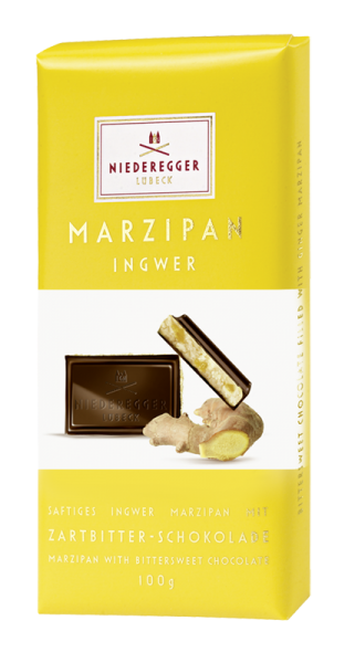 Niederegger Marzipan Ingwer Bittersweet Chocolate Bar