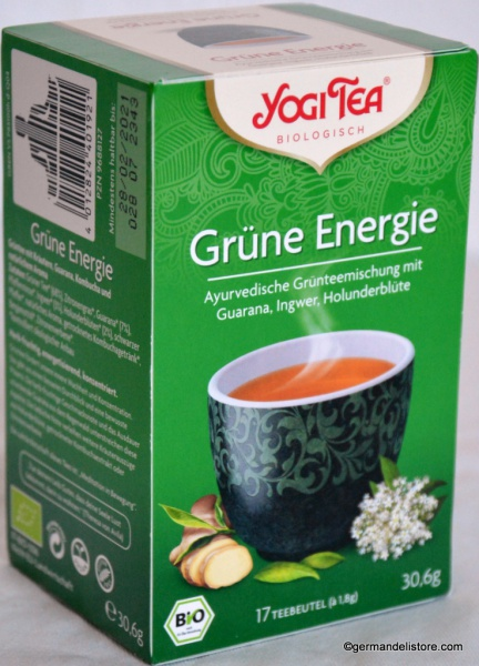 YogiTea Organic Green Tea Green Energy