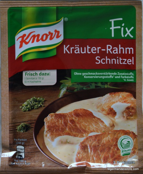 Knorr Fix Schnitzel in Creamy Sauce with Herbs