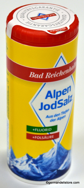 Bad Reichenhaller Iodized Alpine Salt w. Fluoride and Folic