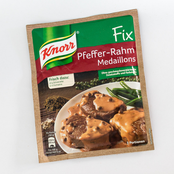 Knorr Fix for Pork Fillets in Creamy Pepper Sauce